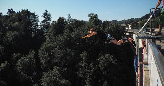 Bungee Jumping von der Lingenauer Hochbrücke